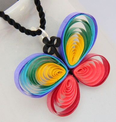 Tri colour butterfly paper quilled dollar