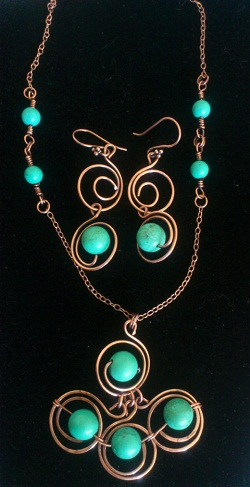 Turquoise Necklace set -12