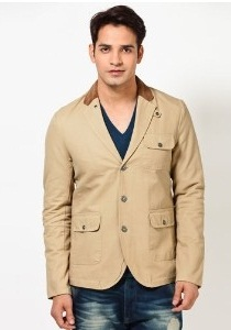 UCB Cream Color Blazer for Men