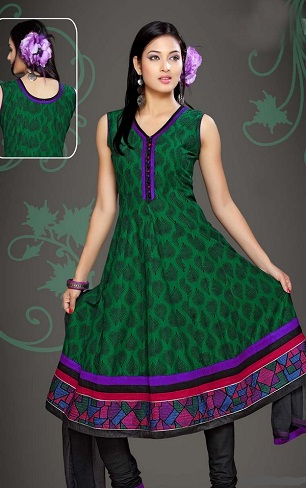 V neck Cotton Salwar Suit Design