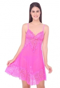 Valentine V-Neck Pink Nighty
