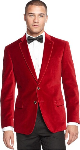 Vintage Red Solid Blazer