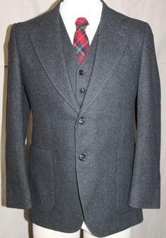 Vintage Solid Gray Blazer