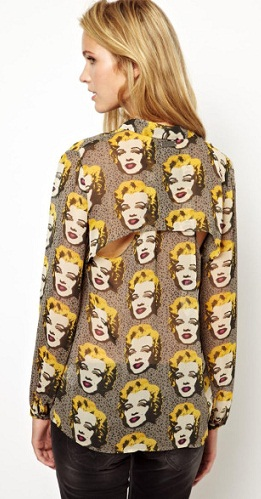 Warhol Printed loose silk top