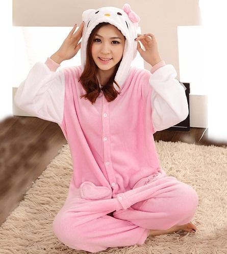 Warm Fleece kitty cat pajamas