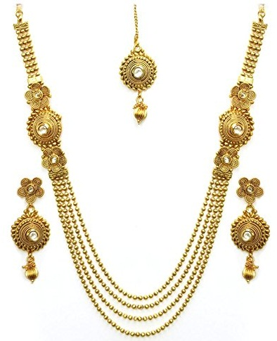 Wedding collection Gold diamond necklace sets -20