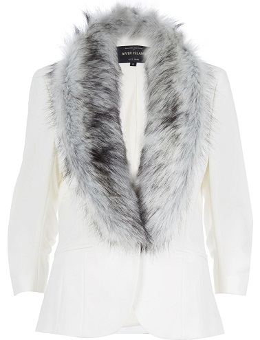 White Blazer with Fur