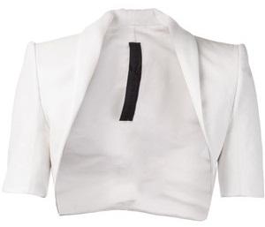 White Cropped Blazer