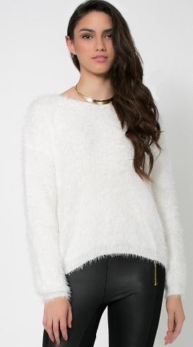White Fur Cardigan
