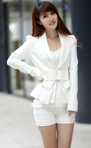White Long Sleeve Blazer