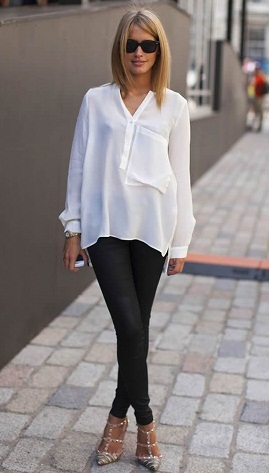 White Over Sized Tunic Top