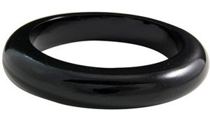 Wood Black Bangle