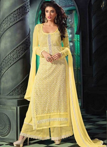 Yellow Georgette Salwar Suit