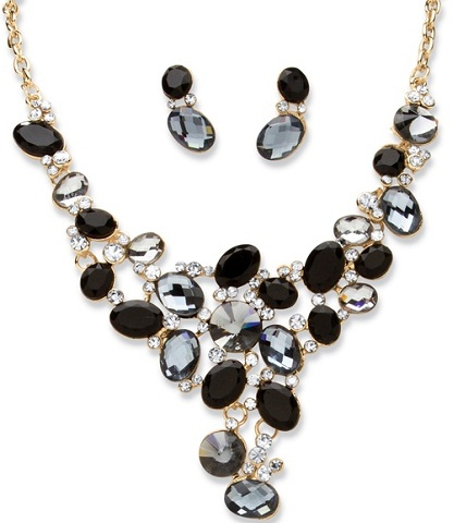 Yellow Gold black and Grey color set necklace -15