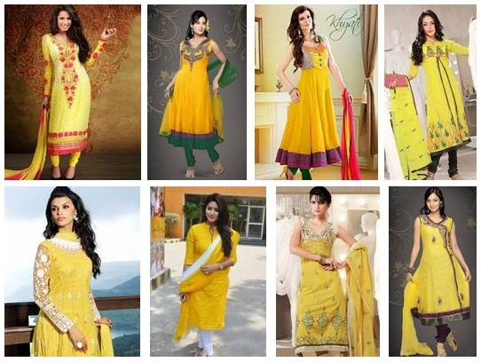 Yellow Salwar kameez Designs girls