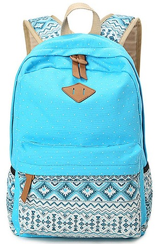 Zig Zap Print School Bag for Teens -7