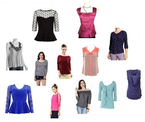 new Patterns of Designer Tops for Girls in Fashion