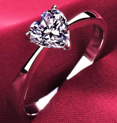 1 Carat Heart Shape Diamond Ring