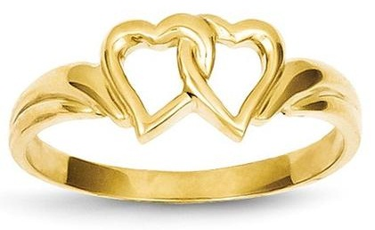 14 K Interlocked Heart Shape Ring