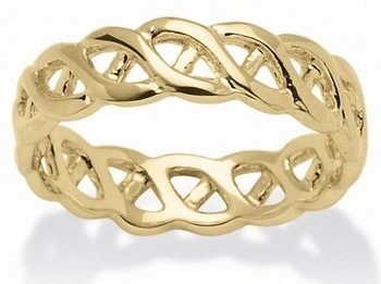 14 k Gold Braided Pattern Ring