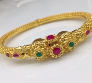 1gm Gold Bangles With Gemstone