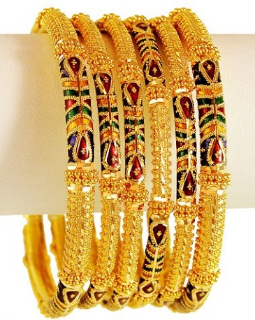 9 Beautiful Looking 22k Gold Jewellery Bangles Designs