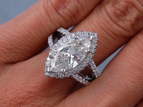 3 Carat Marquise Cut Diamond Ring