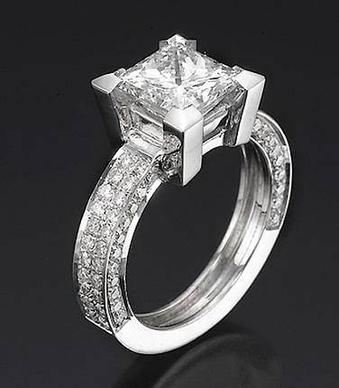 3 Carat Princess Cut Diamond Ring