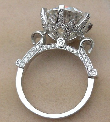 5 Carat Royal Design Cut Diamond Ring