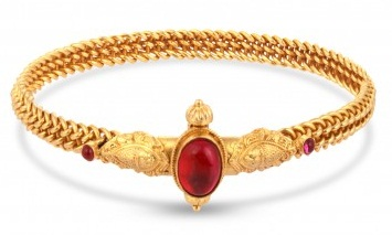8gm Gold Gemstone Bangles