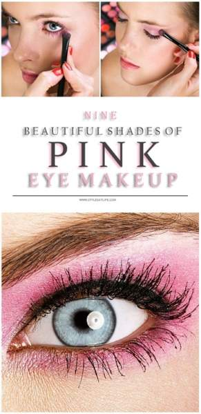 9 Beautiful Shades of Pink Eye Makeup for Wedding