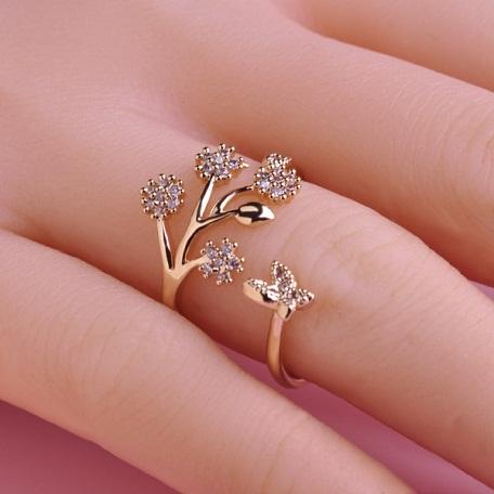 Adjustable Diamond Wedding Ring