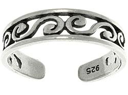 Adjustable Silver Toe Rings