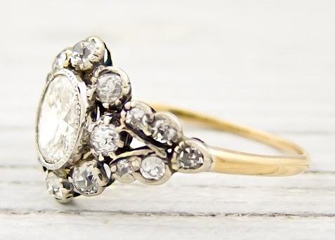 Antique Gold- Diamond Engagement Ring