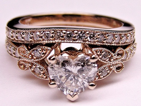 antique gold engagement ring in rose