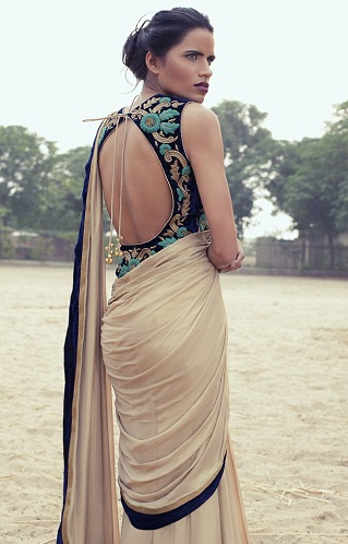 Backless Long Blouse