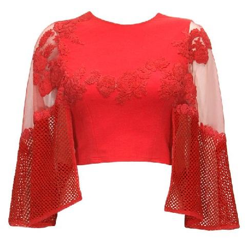 Bat wing sleeves blouse