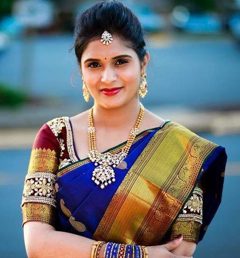 Beautiful Blouse Pattern for Pattu Saree