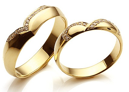 Beautiful Designer Gold Couple Rings