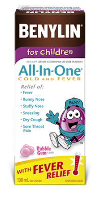 Benylin All-In-One Cold And Fever Syrup For Kids & Infants