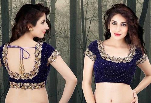 fb948d259d5ad7 15 Gorgeous Velvet Blouse Design Patterns for Sarees