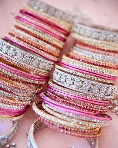 Bridal Bangle Sets in Crystals