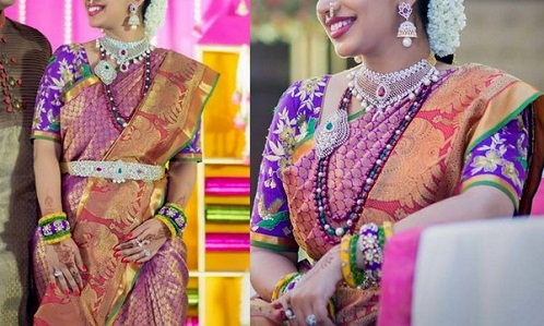Bridal Purple Blouse Design