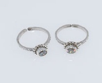 CZ Silver Toe Rings