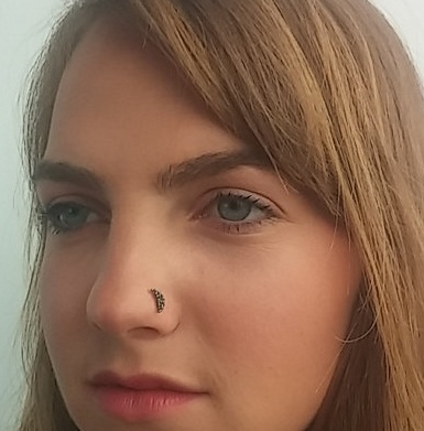 Celestial Moon Black Stud Nose Ring