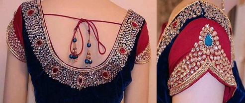 Choli Maggam Work Blouse Design