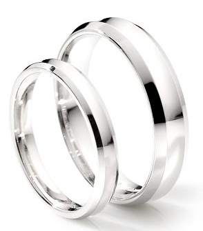 Classic Platinum Couple Ring 10
