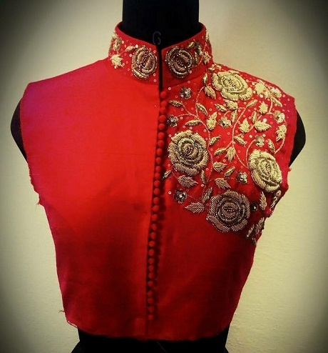 Collar Blouse for Bride