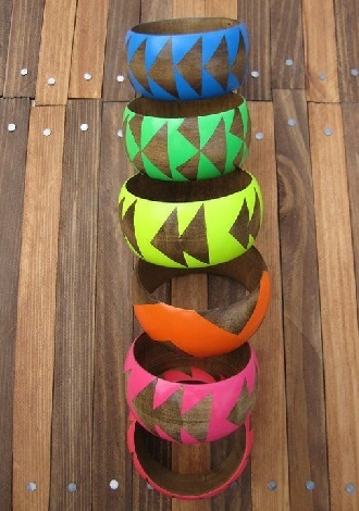 Colourful Wooden Bangles