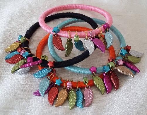Contemporary thread bangles